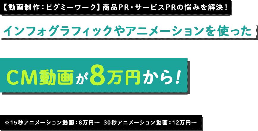 CM動画が8万円から!